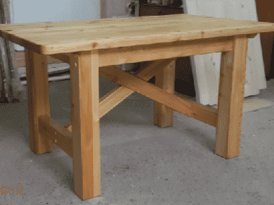 Стол прямоугольный из массива лиственницы