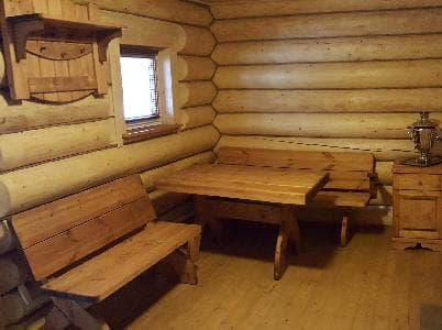 комплект деревянной мебели для бани