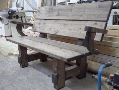 Скамья деревянная из массива сосны