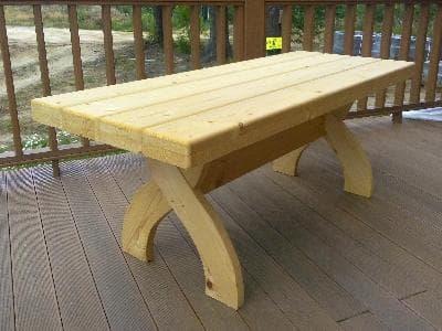 Стол прямоугольный для дачи и сада