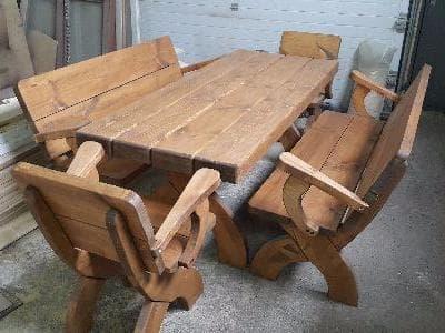 """Комплект мебели """"2+2"""" для комнаты отдыха бани или сауны"""