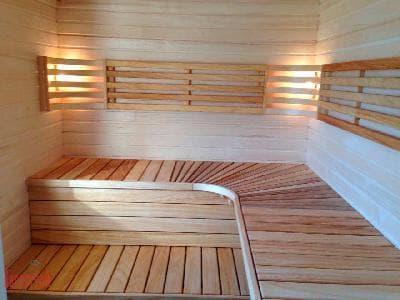 Набор деревянной мебели для сауны