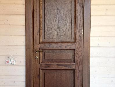 Межкомнатные двери для деревянного загородного дома (клееный брус) по эскизам заказчика.